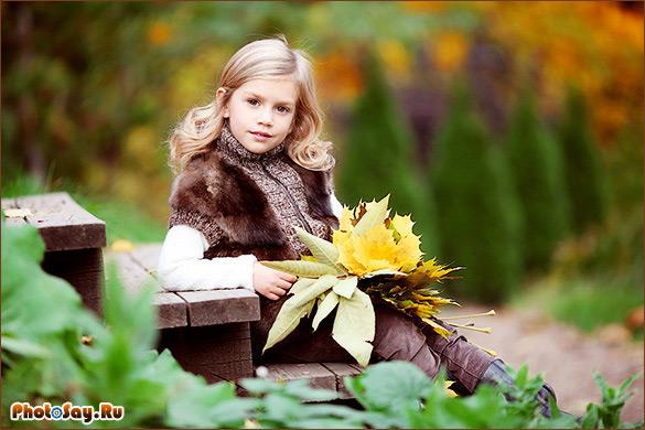 Фотосессия на природе ребенка