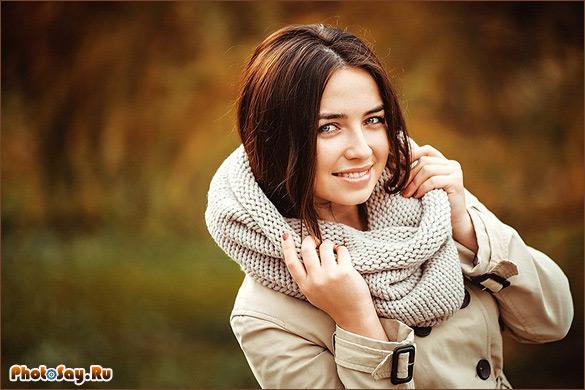 Картинки девушки осенью с фотиком