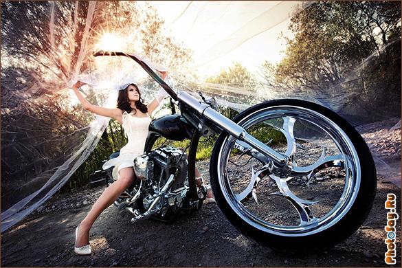 Фотосессия на мотоцикле москва фотоальбом креатив к